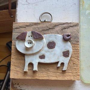 Vintage Clay Pig